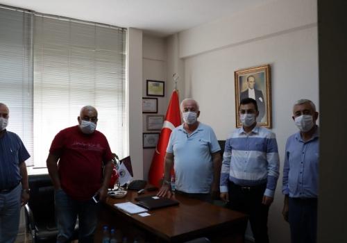 Vakıfbank Ödemiş Şubesi Müdürü Hakan İLKAR Ödemiş Ticaret Borsası'nı Ziyarette Bulundu: