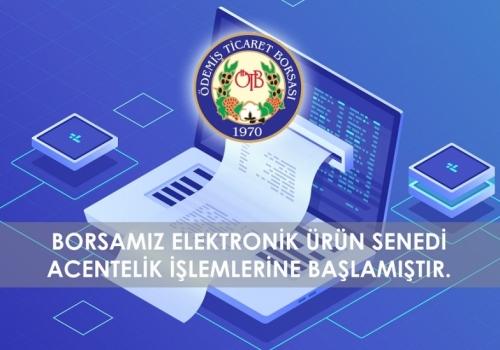 Ödemiş Ticaret Borsası Türkiye Ürün İhtisas Borsası A.Ş (TÜRİB) Acentesi Oldu