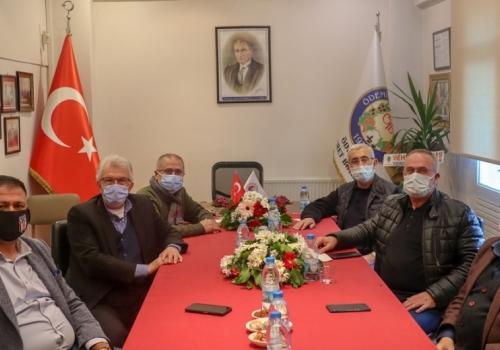 Ödemiş Belediye Başkanı Mehmet ERİŞ ve Heyeti Borsamızı ziyaret etti: