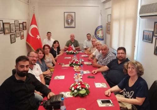 Serbest Muhasebeci Mali Müşavirler Odası Ödemiş İlçe Temsilciliği, Ödemiş Ticaret Borsamızı Ziyaret Etti