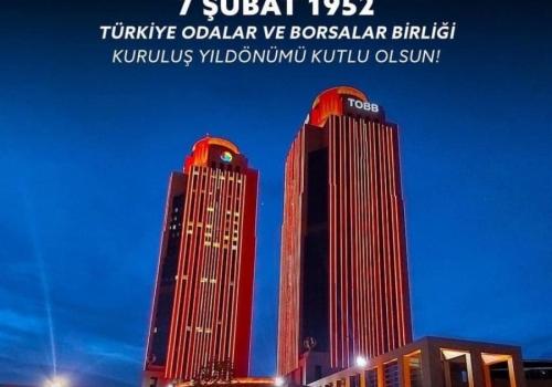 Türkiye Odalar ve Borsalar Birliği (TOBB) 69. yaşında.