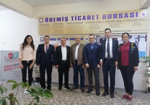 TOBB Borsalar Müdürlüğü ; ÖDEMİŞ TİCARET BORSAMIZI ziyaret etti: