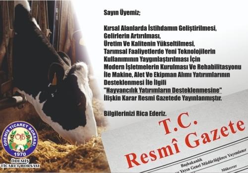 Hayvancılık Yatırımların Desteklenmesi