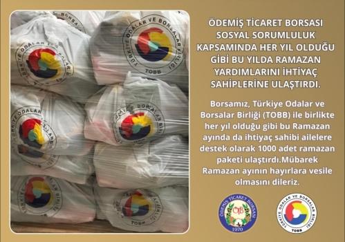 Ödemiş Ticaret Borsası Gıda Yardımını gerçekleştirdi: