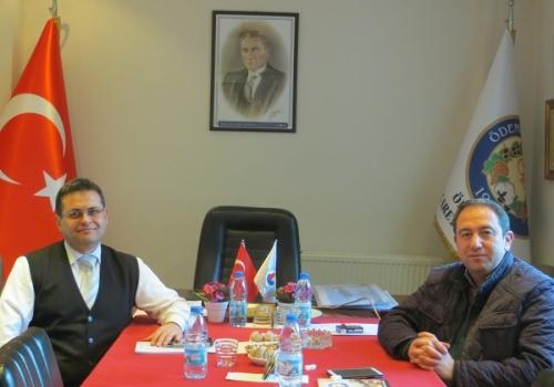 Erzincan Ticaret Borsası Genel Sekreteri Sayın Fuat ÇAMURCU Ödemiş Ticaret Borsası'nı Ziyaret etti.