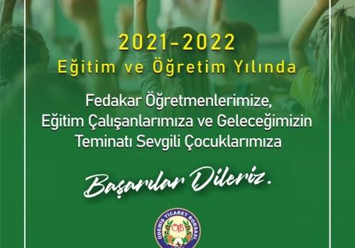 2021-2022 Yeni Eğitim ve Öğretim Yılında Başarılar Dileriz.